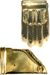 """Clawfoot Leg Cap 2-5/8"""" - Brass"""