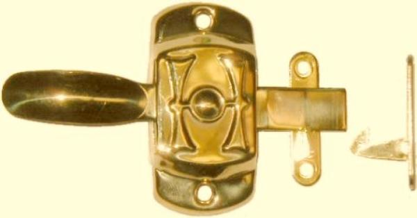 "Universal Hoosier ""H"" Cabinet Latch - Brass"