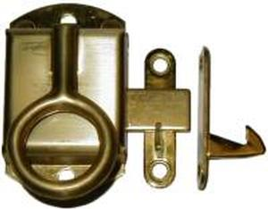 Left Hand Napanee Cabinet Latch - Brass