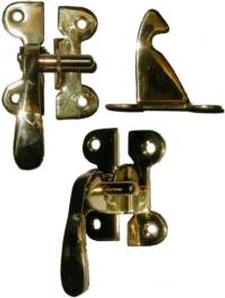 Left Hand McDougall Cabinet Latch - Brass