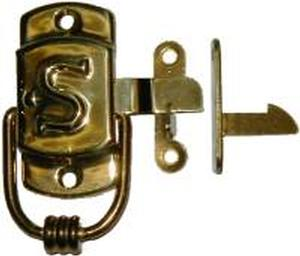 "Left Hand SELLERS ""S"" Cabinet Latch - Brass"