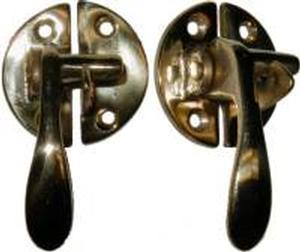 Left Hand Boone Flush Cabinet Latch - Brass