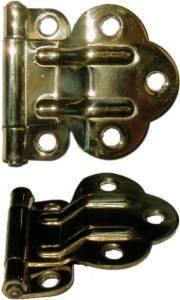 McDougall Fold Back Cabinet Hinge - Brass