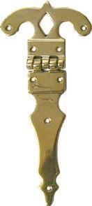 Large Strap Hinge - Brass