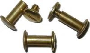 "Screw Post 1/2"" - Brass"