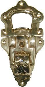 Large Trunk Drawbolt - Brass
