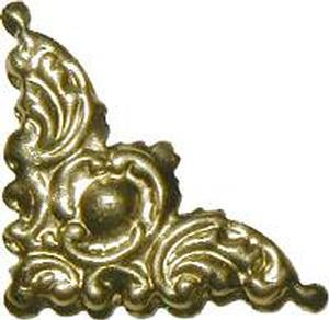 """Decorative Corner 1-1/8"""" - Brass"""