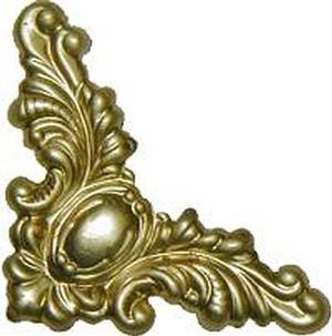 "Decorative Corner 1-1/2"" - Brass"