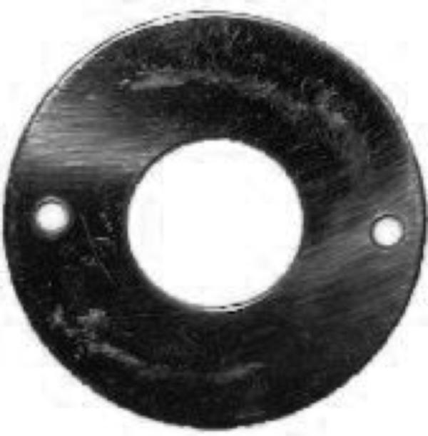 Black Steel Crank Hole Cover