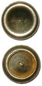 Caps for Split Rivets - Brass Plated