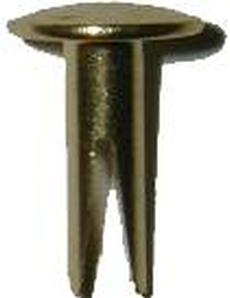"Split Rivets 1/2"" - Brass Plated"