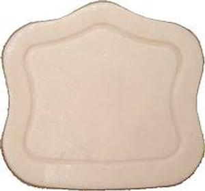 """Trunk Lock Cover 3"""" x 3 1/4"""" - Natural"""
