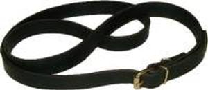Leather Trunk Buckle Strap - Black