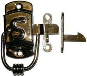 "Left Hand SELLERS ""S"" Cabinet Latch - Nickel"