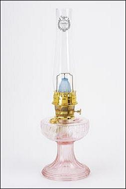Pink Lincoln Drape Oil Lamp