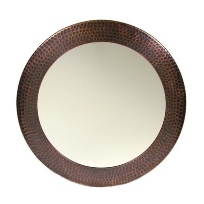 Round Mirror - Antique Copper