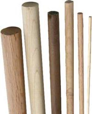 """Dowel Rod 1-1/8"""" - Oak"""